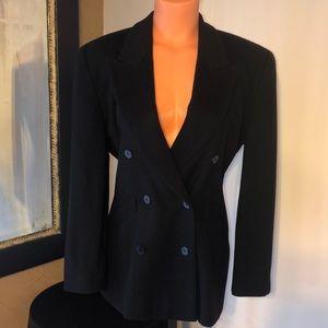 Escada black wool / cashmere blazer